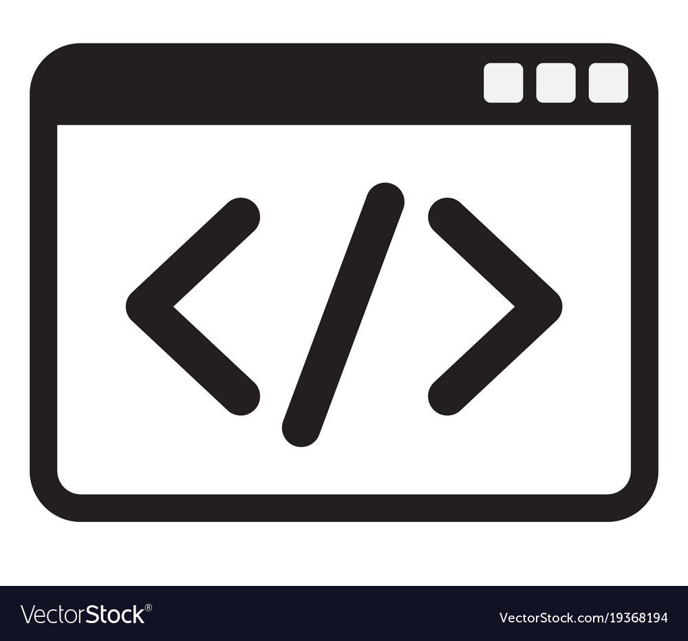 Code icon on white background code icon sign vector image