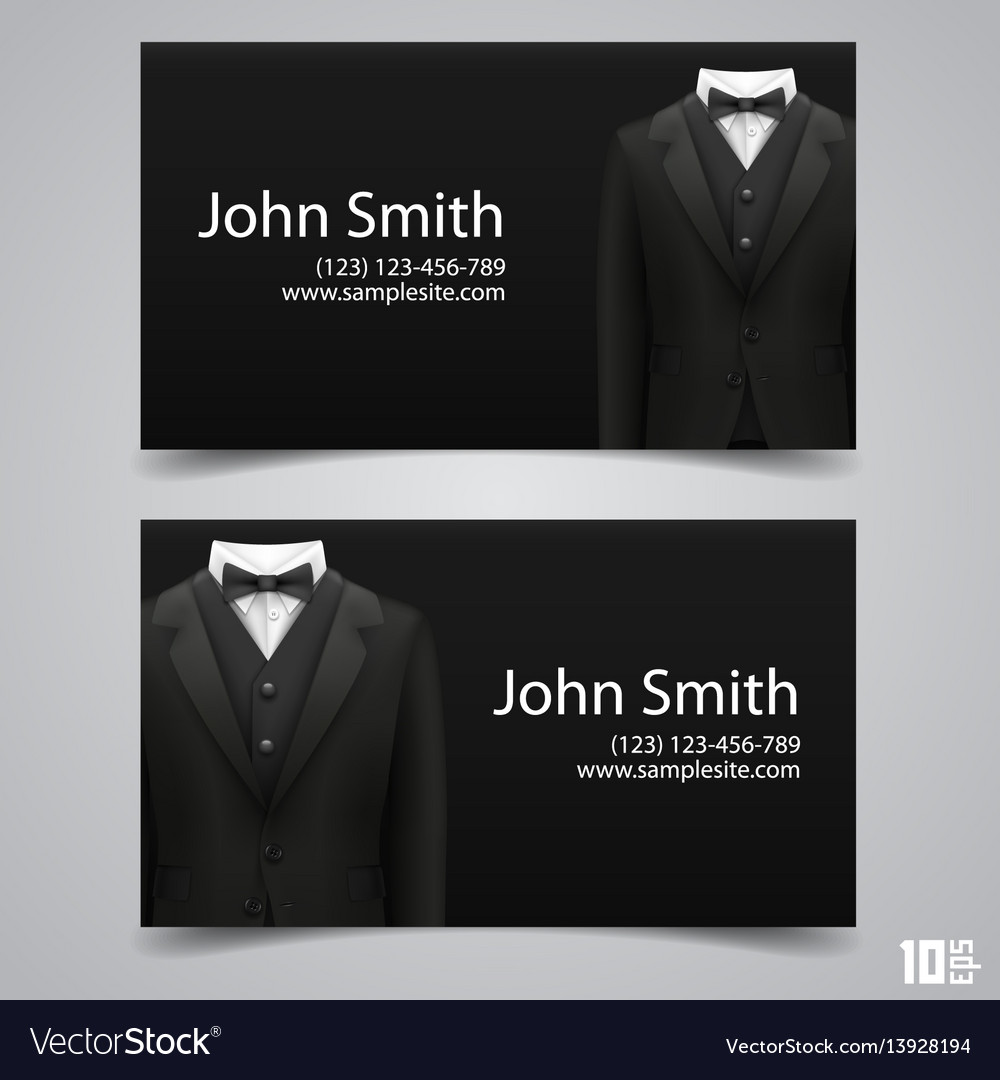 Jacket business card Royalty Free Vector Image