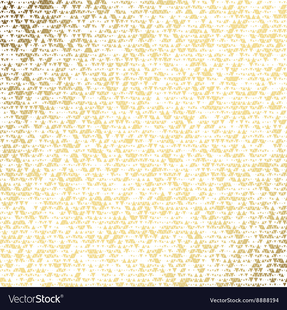 Triangle golden paper grunge seamless vector image