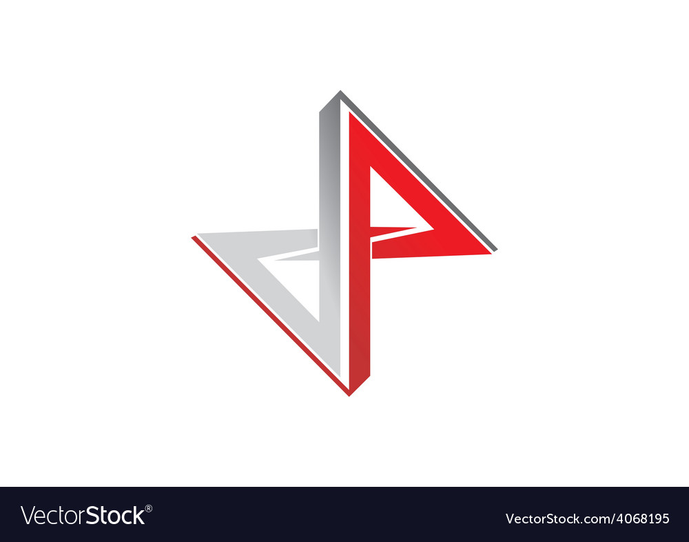 Geometry abstract construction logo vector image