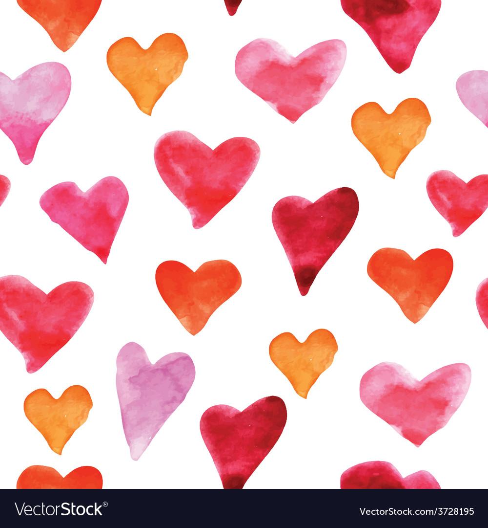 Water heart background vector image