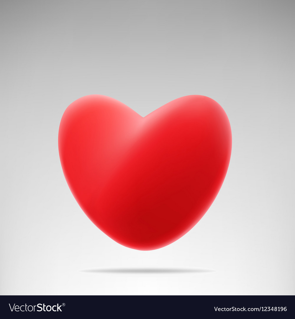 Red like heart vector image