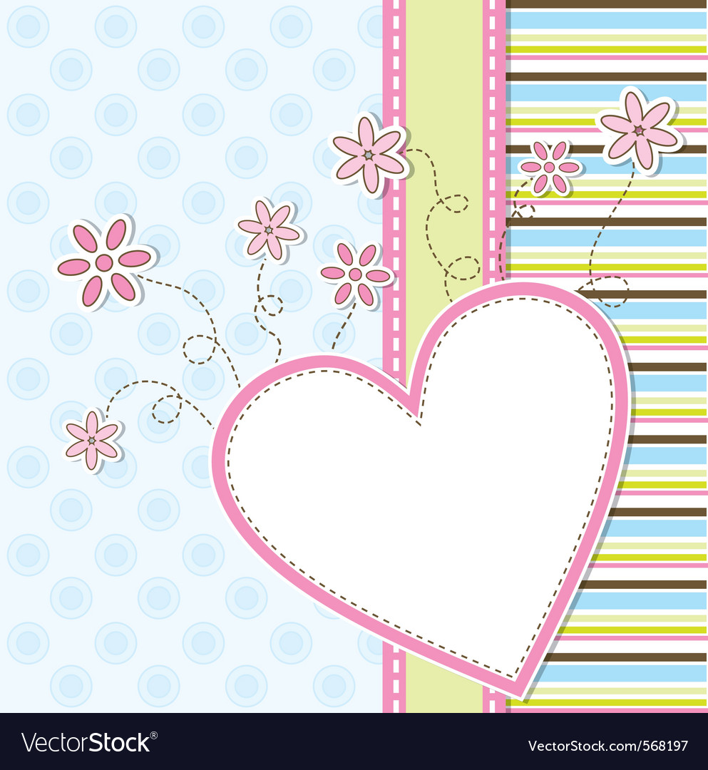 Template greeting card vector image