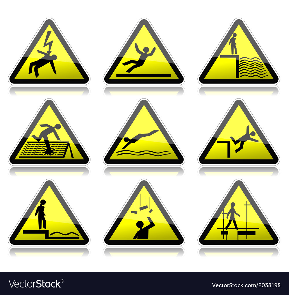 Electrical warning sign Royalty Free Vector Image
