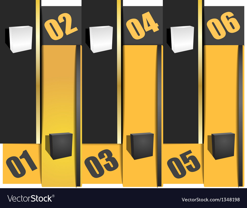 Options info graphic banner in columns vector image
