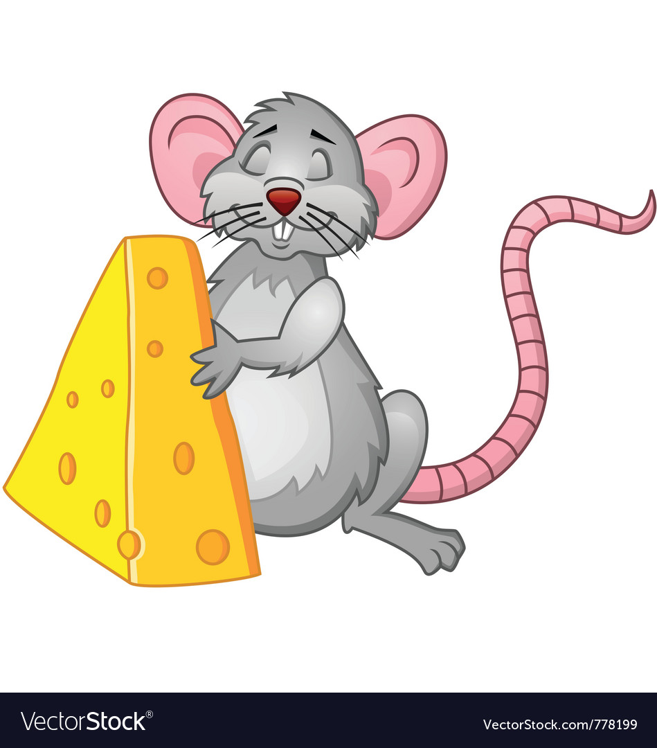 funny rat with cheese royalty free vector image