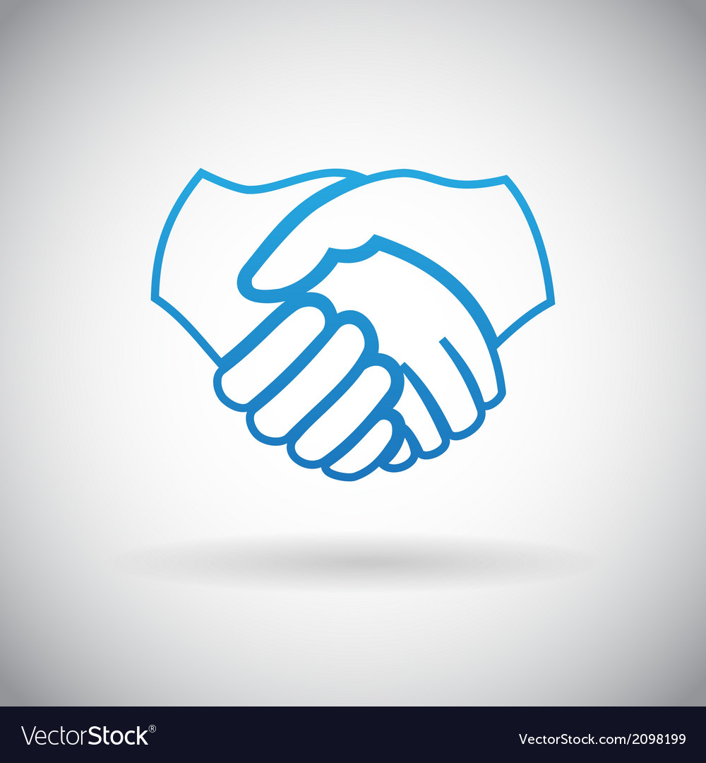 Handshake Cooperation Partnership Icon Symbol Sign vector image