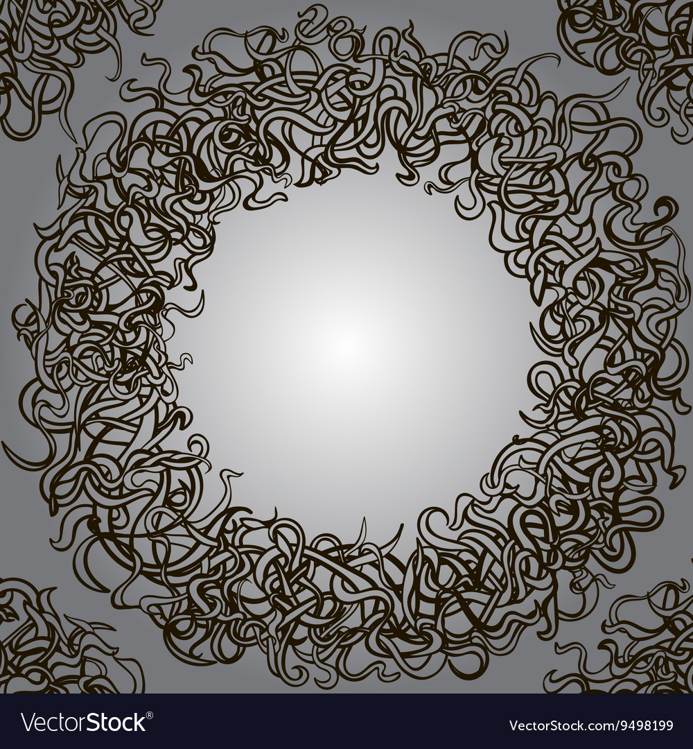 Round frame template vector image