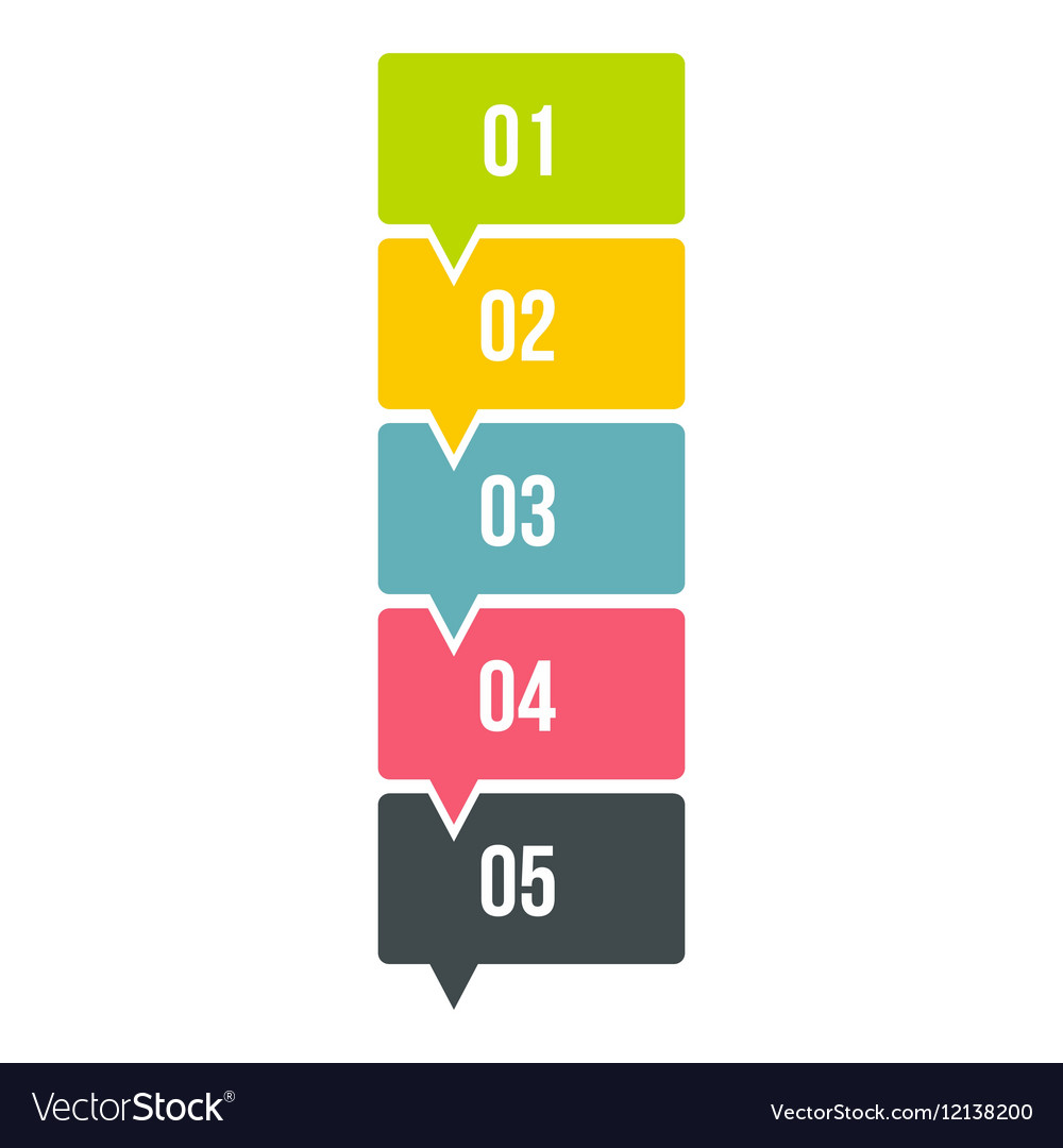 High scheme infographics flat style vector image