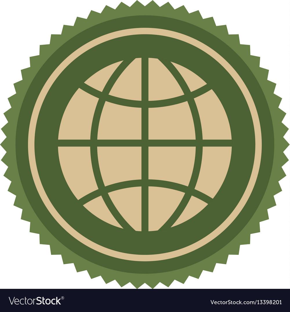 Green symbol earth planet icon vector image