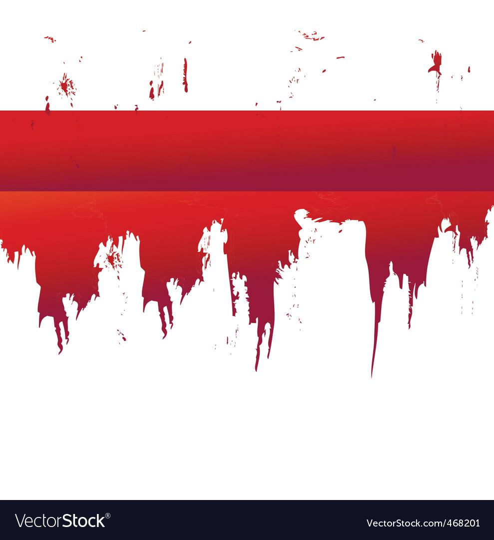 Splatter border vector image