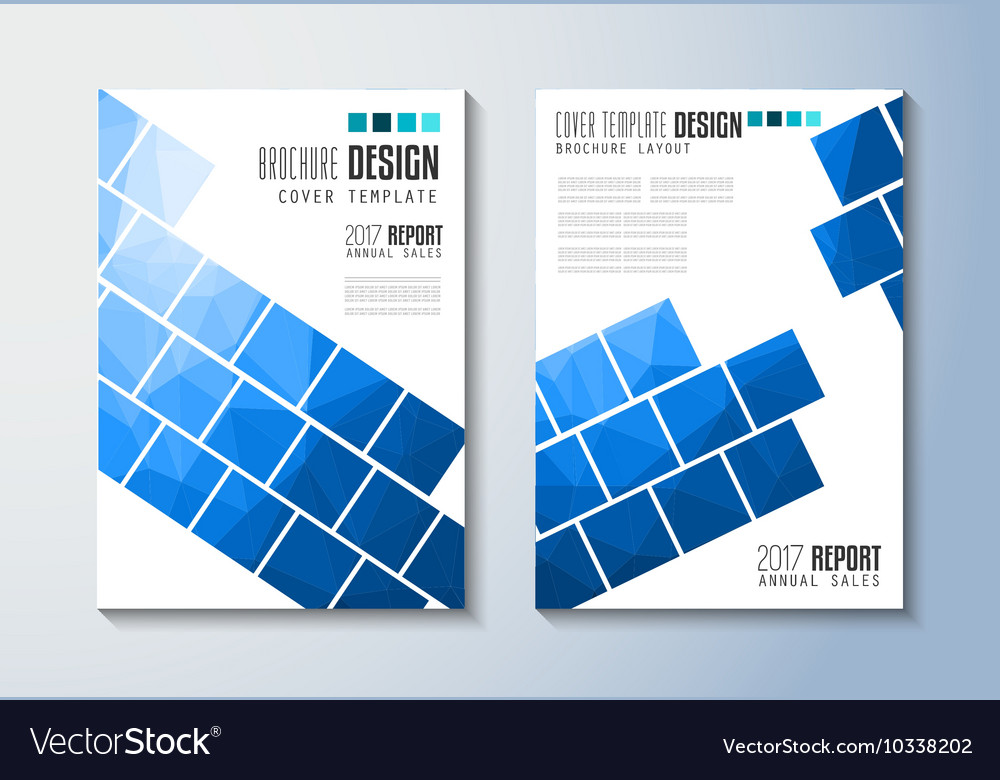 Brochure Template Flyer Design Or Depliant Cover Vector Image - Sales brochure template