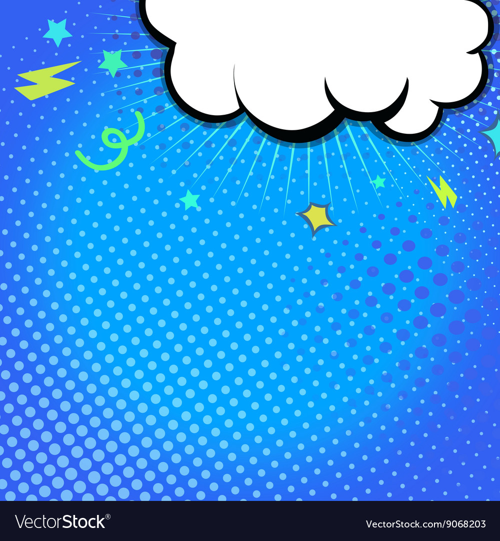 Comic book with explosion on top vector image