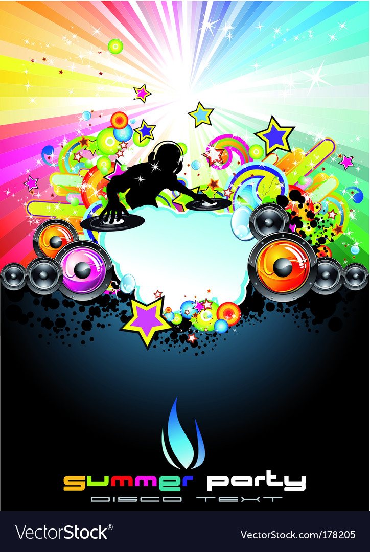 Music event abstract background vector image