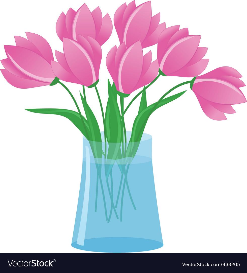 Flowers in vase royalty free vector image vectorstock flowers in vase vector image reviewsmspy