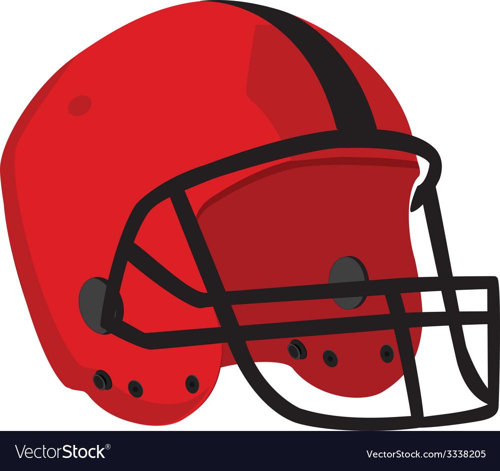 Red rugby helmet vector image