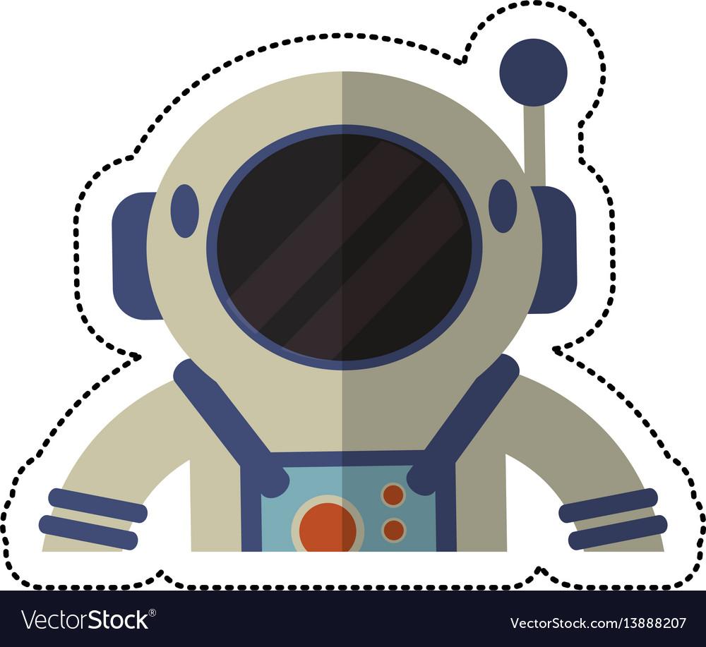 Astronaut spacesuit helmet shadow vector image