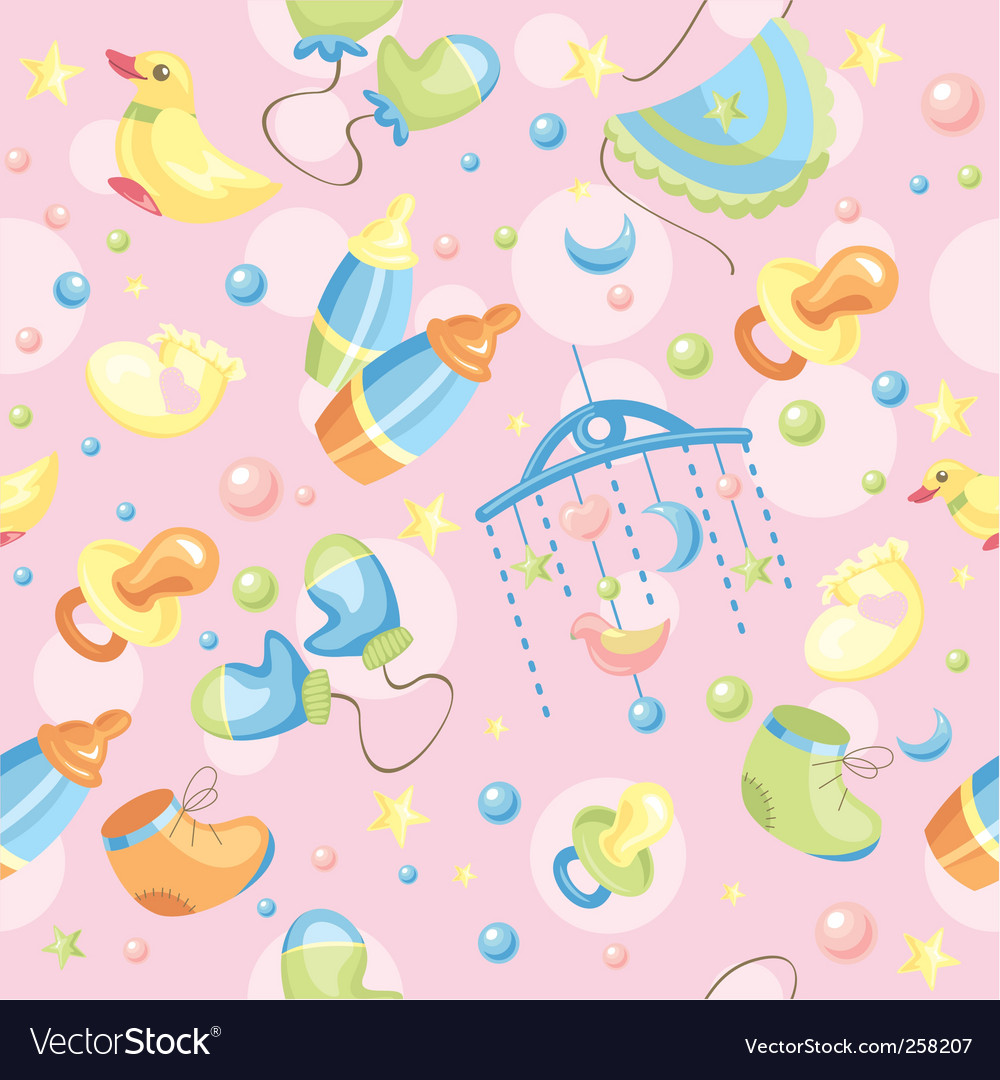 Cute baby background vector image