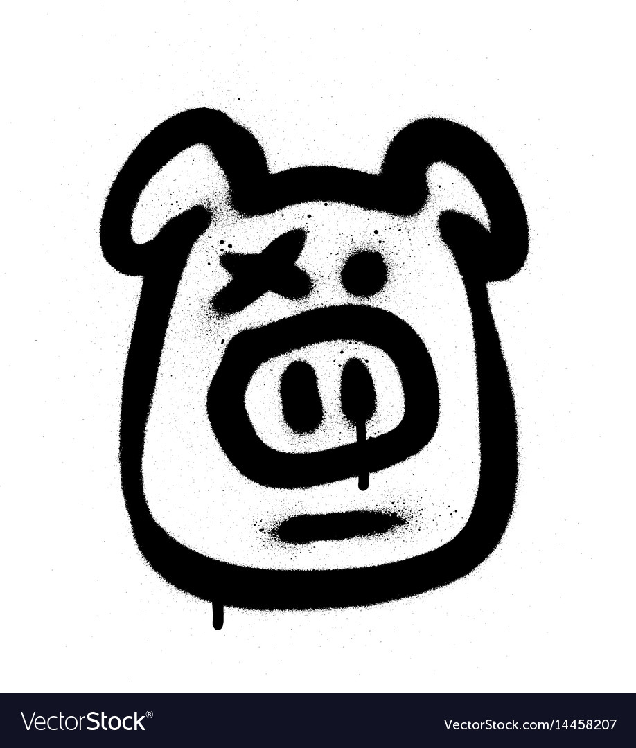 Graffiti hog sprayed in black on white royalty free vector graffiti hog sprayed in black on white vector image biocorpaavc
