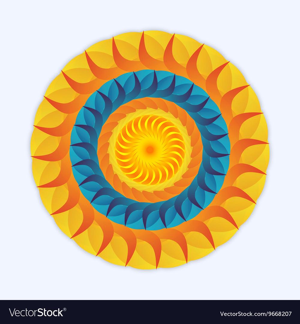 Logo sun and sea vector image