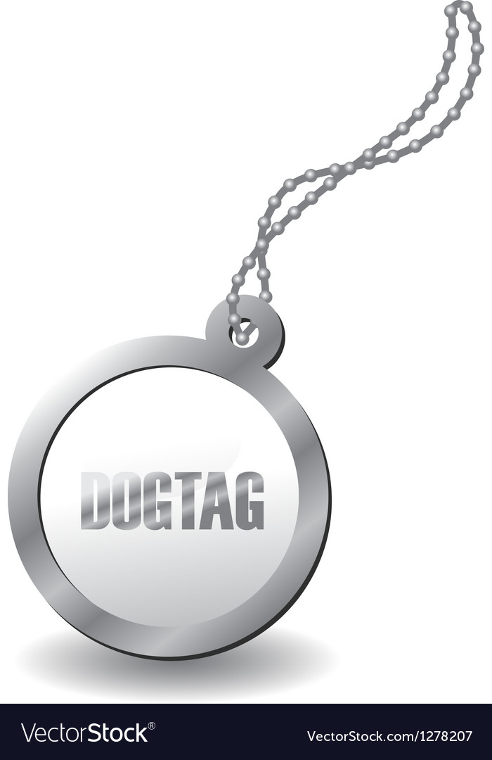 Metal dog tag vector image