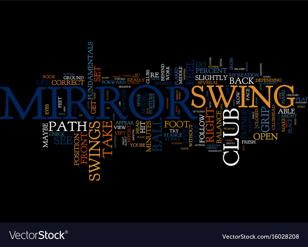 Golf tip mirror image text background word cloud vector image