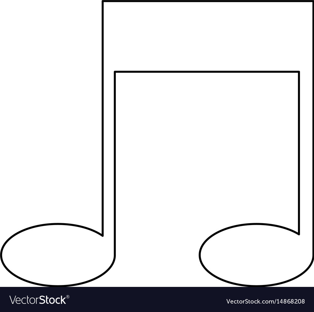Note music sound melody icon vector image