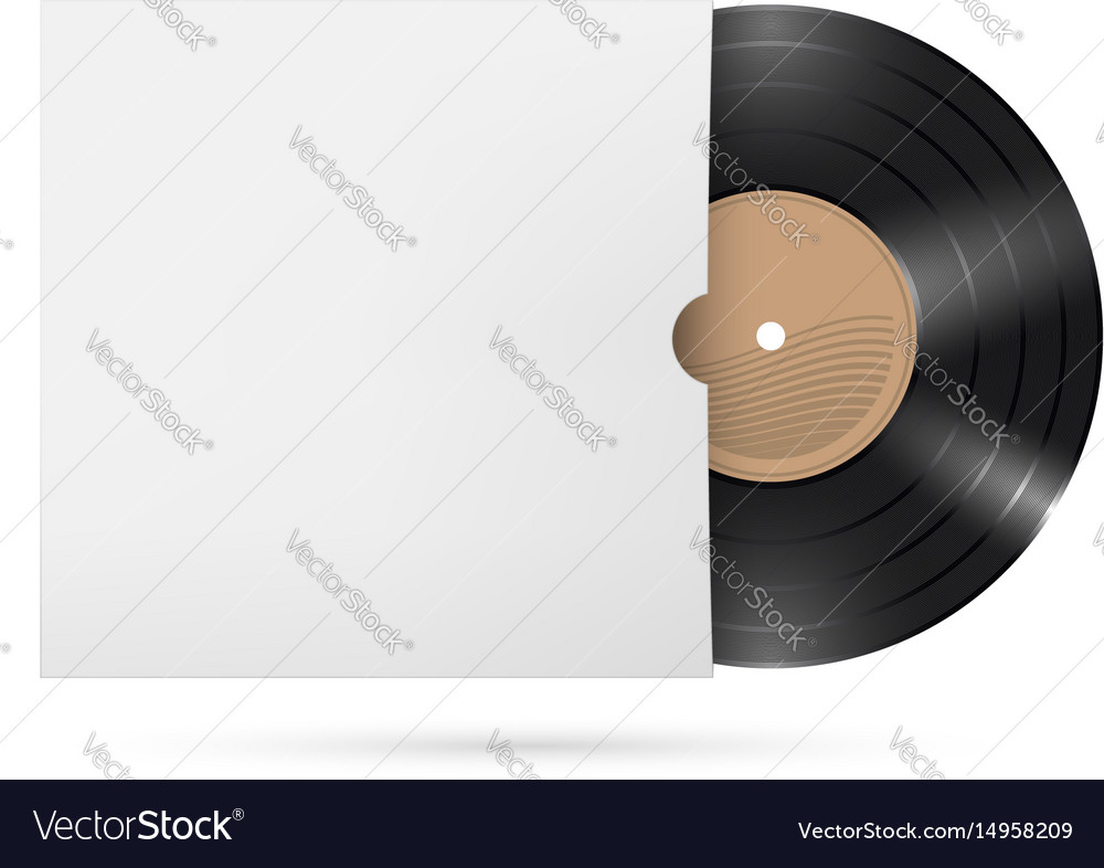 Vinyl records on white background for creative vector image