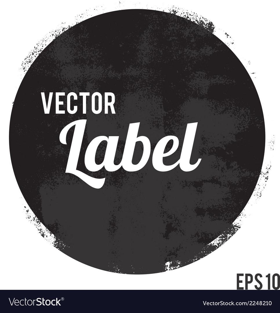 Round grunge design element vector image