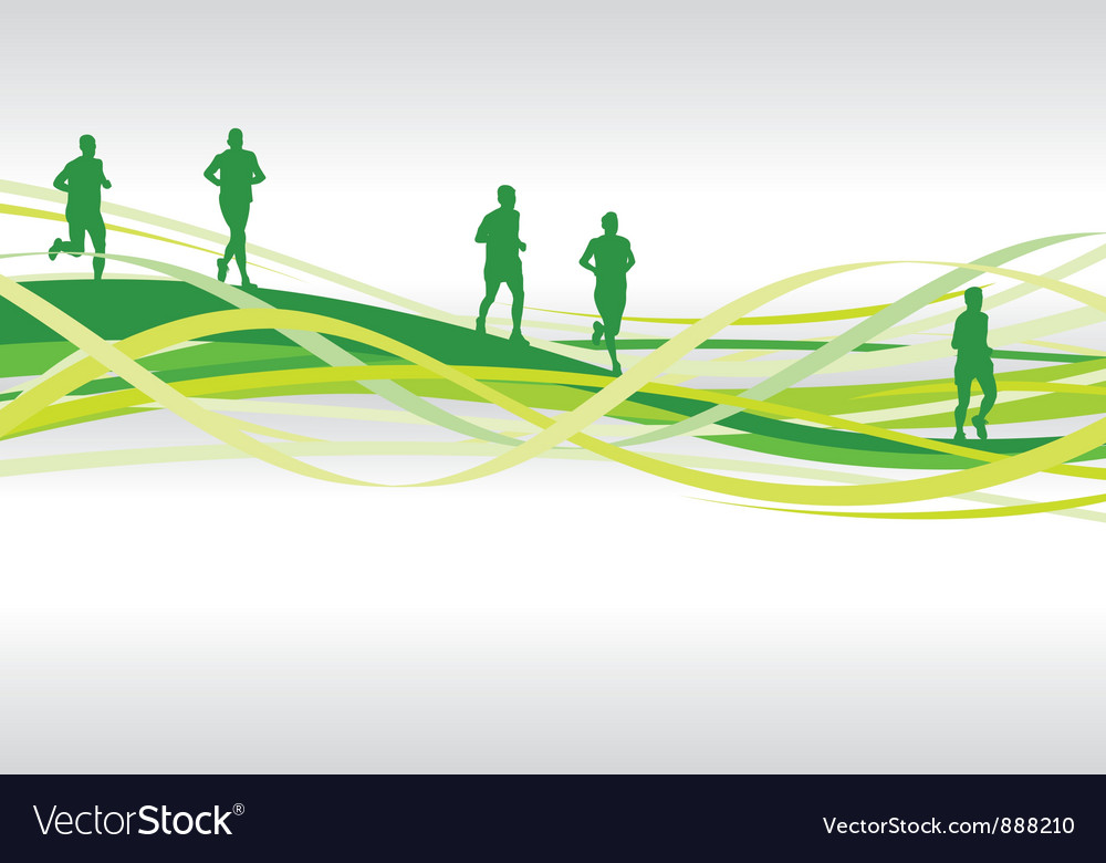 Runners spiral1 vector image