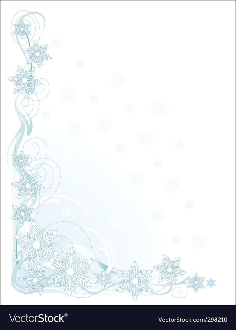 Snowflake corner vector image
