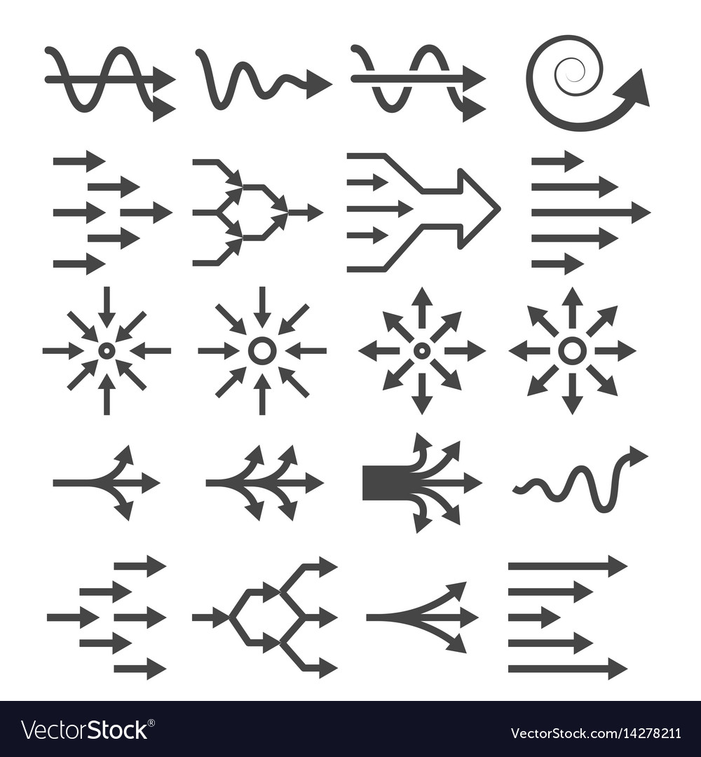 Transition icon set vector image
