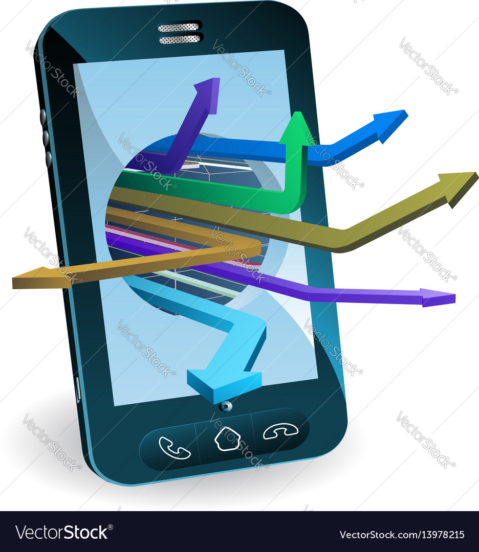 Phone arrows concept vector image