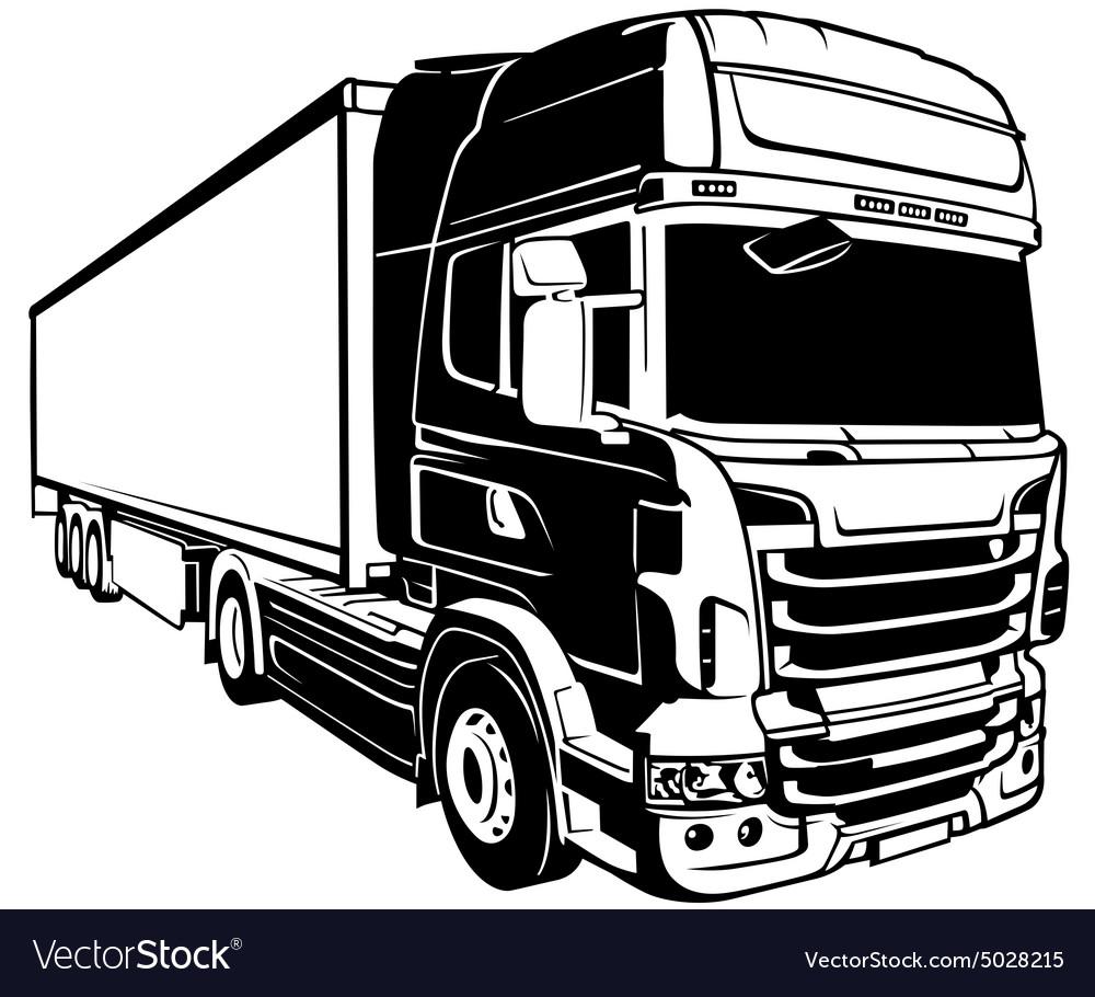 Trailer Truck Royalty Free Vector Image Vectorstock