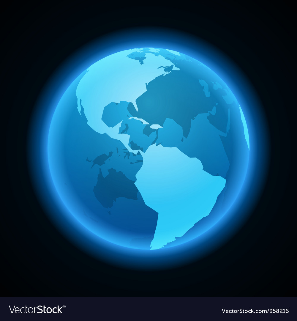 Globe earth night light icon vector image