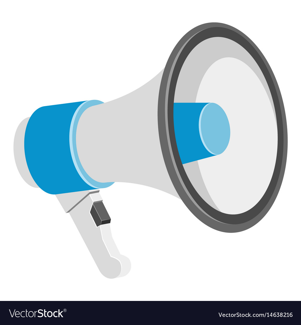 Loudspeakers on white background vector image