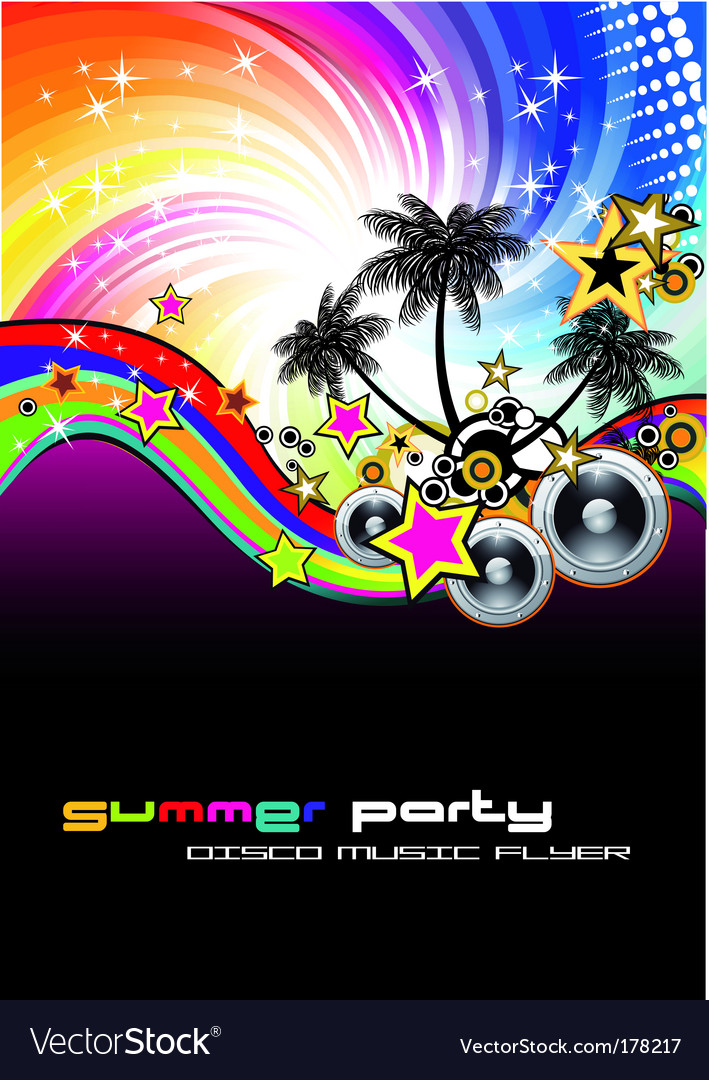 Tropical musical event background vector image