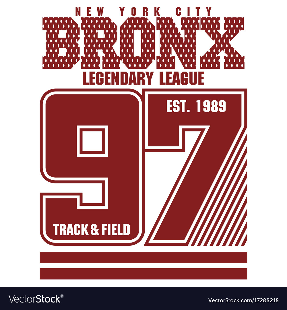 Bronx t-shirt graphics vector image