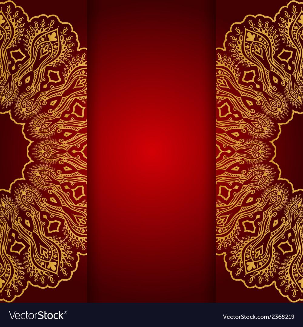 Royal gold ornamental greeting card vector image