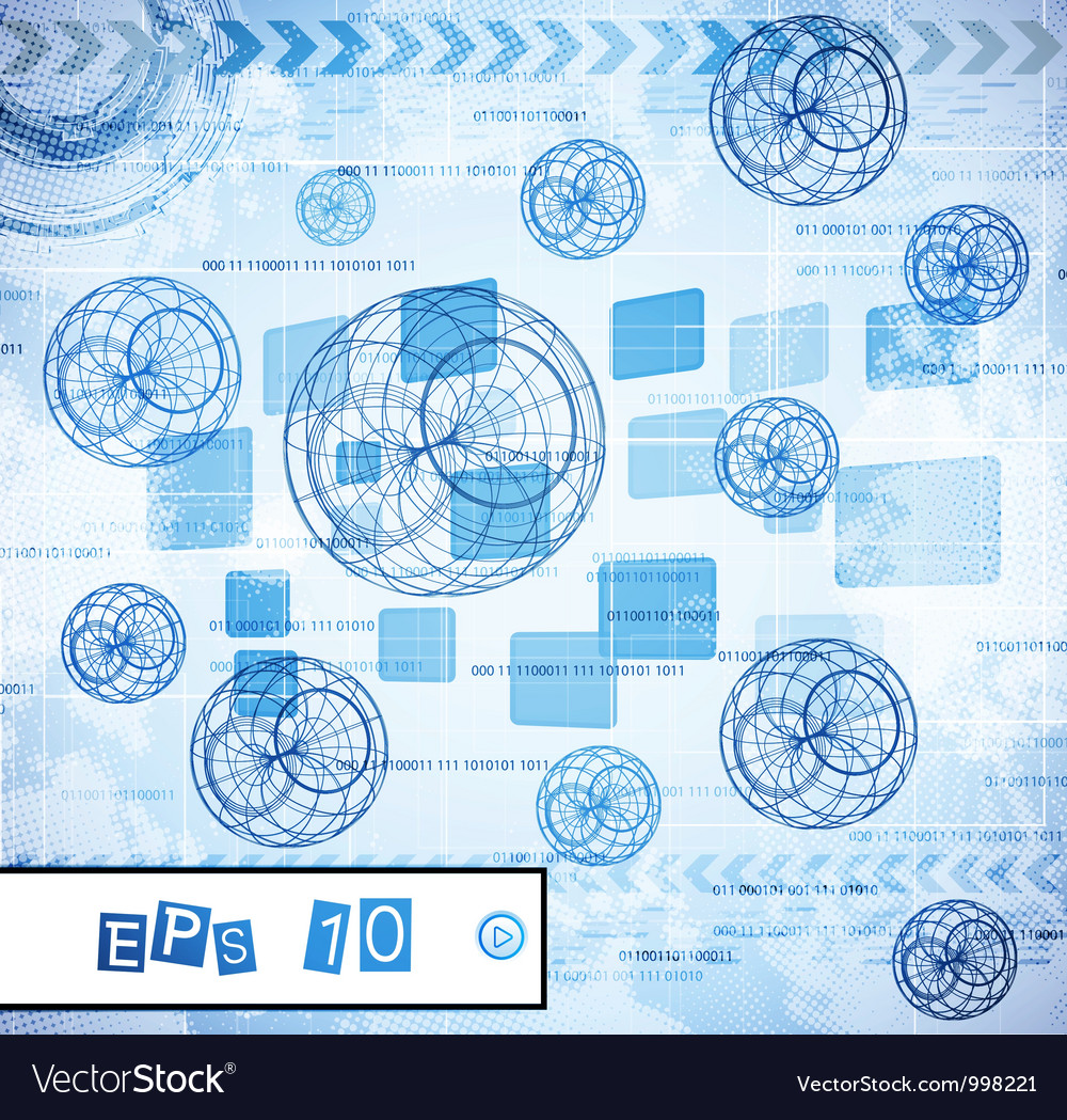 Abstract tech design vector image