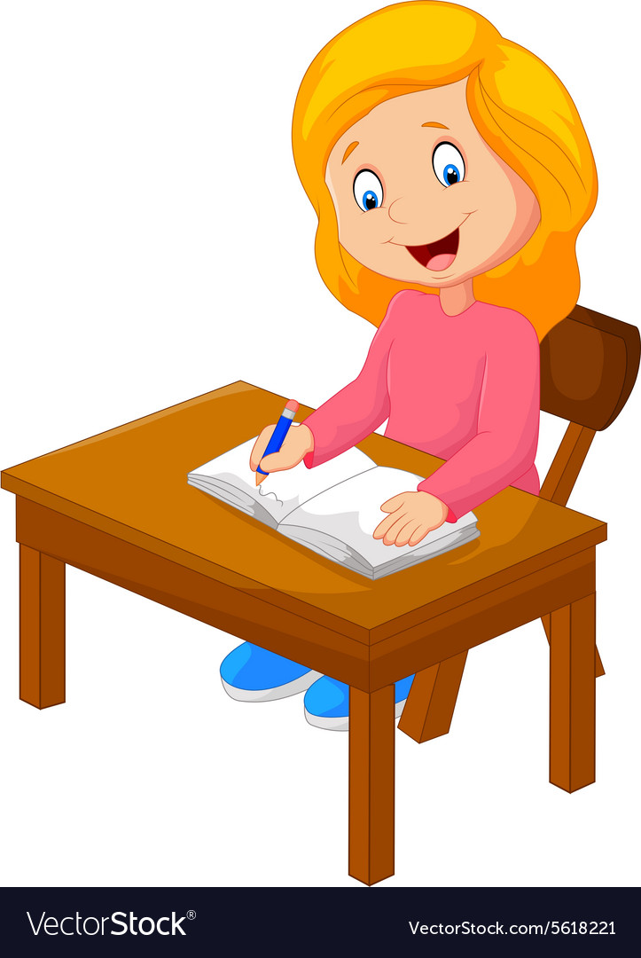 cartoon children are learning vector image vector image