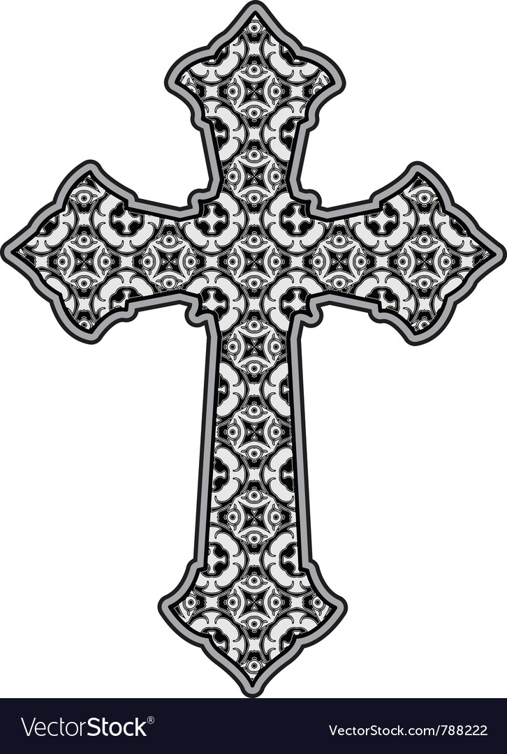 Patterned cross vector image