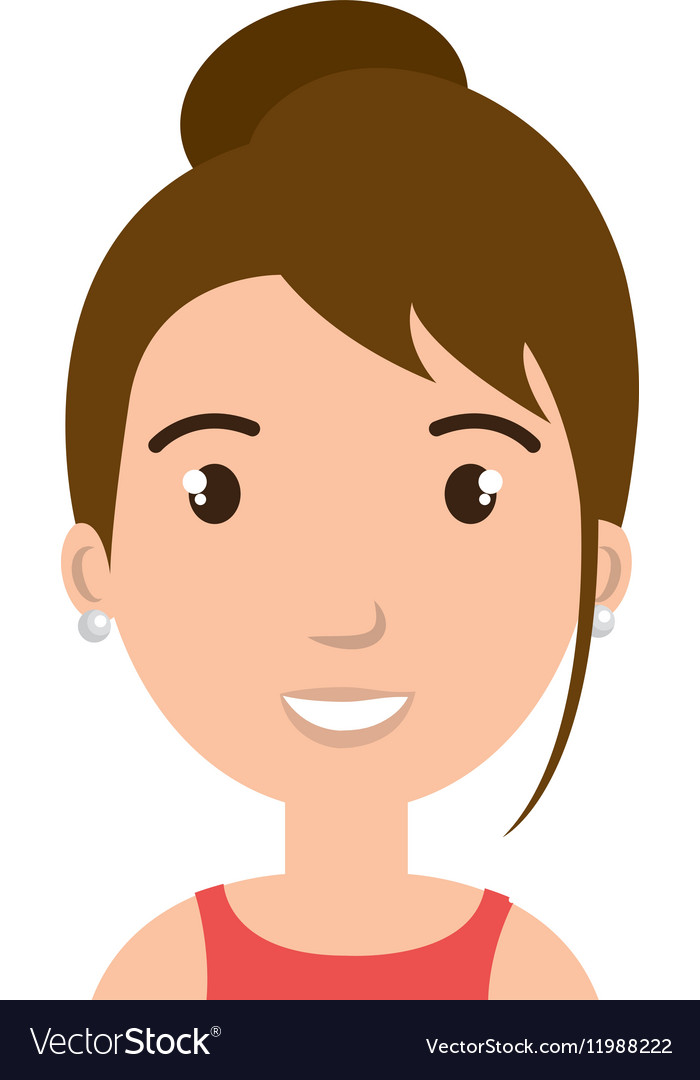 Young woman teacher character vector image