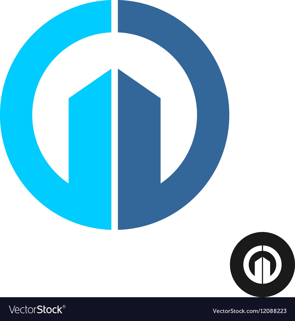 Abstract round building logo vector image