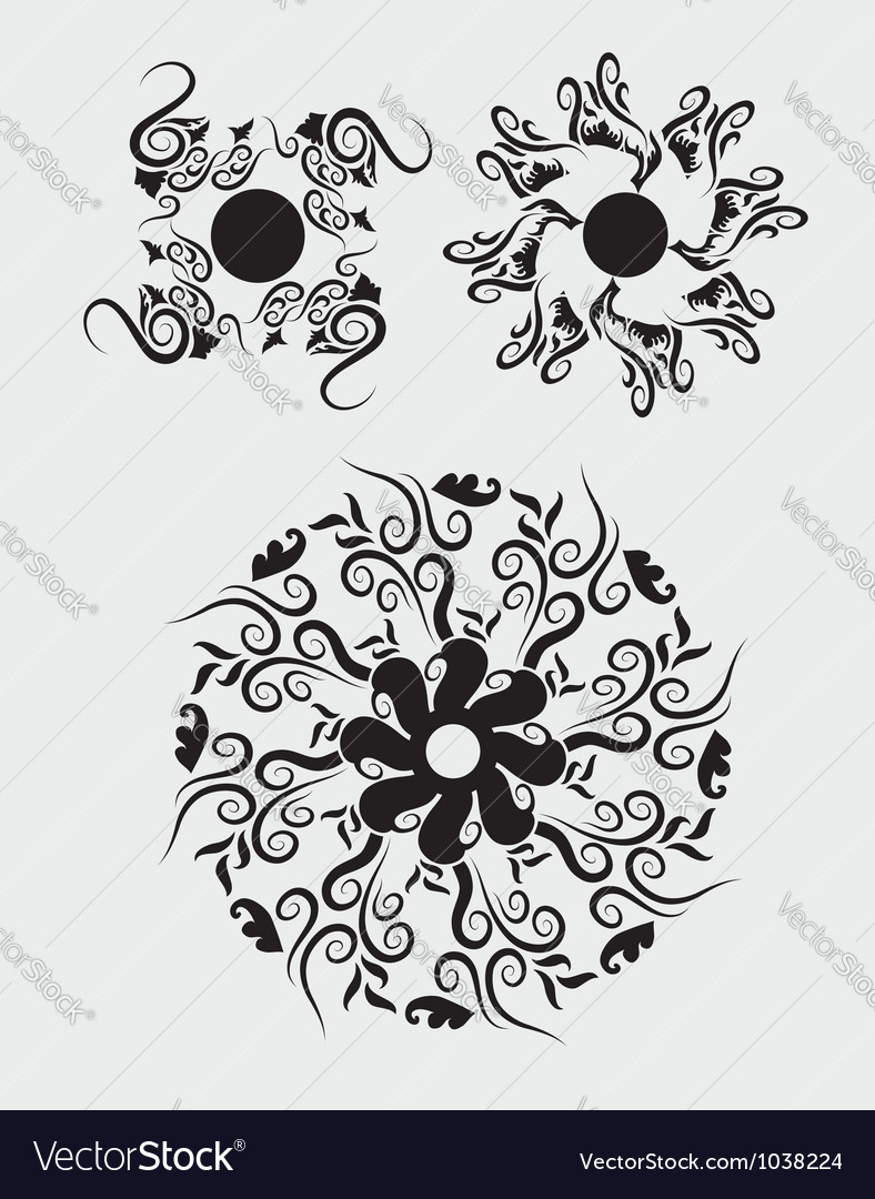Floral element 2 vector image