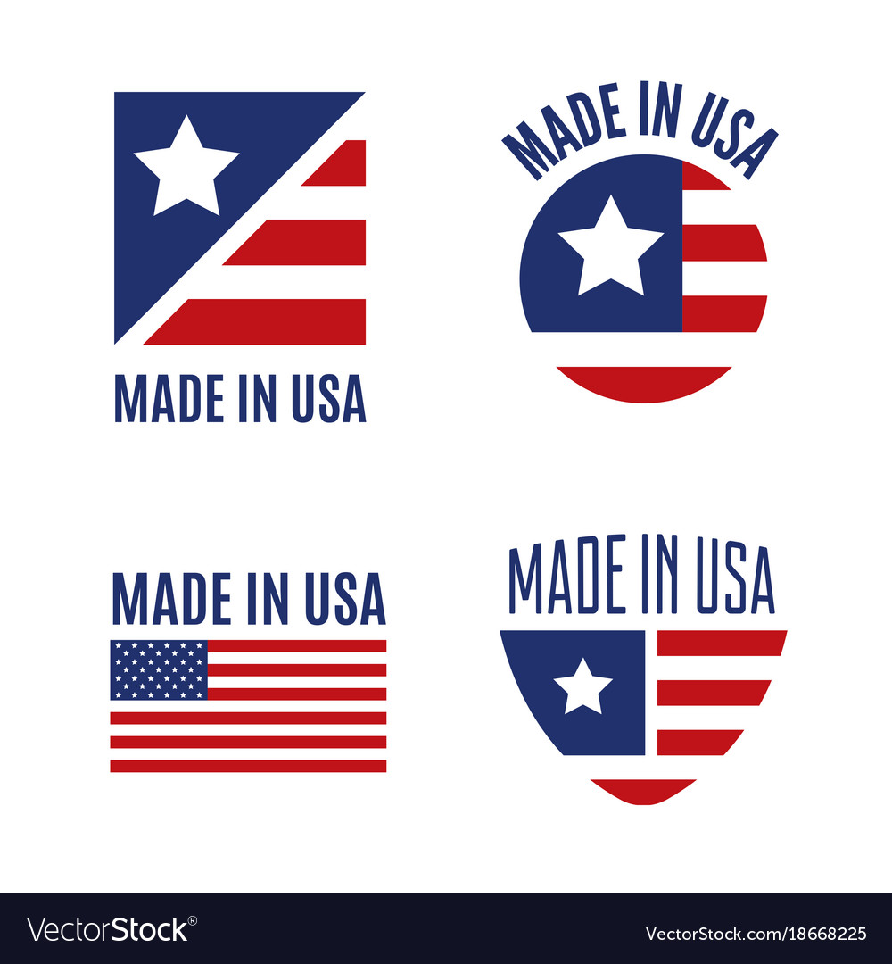 Set of made in the usa logo labels and royalty free vector set of made in the usa logo labels and vector image buycottarizona