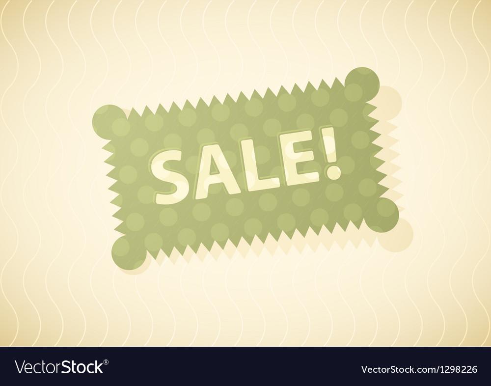 Sales Green Vector Image