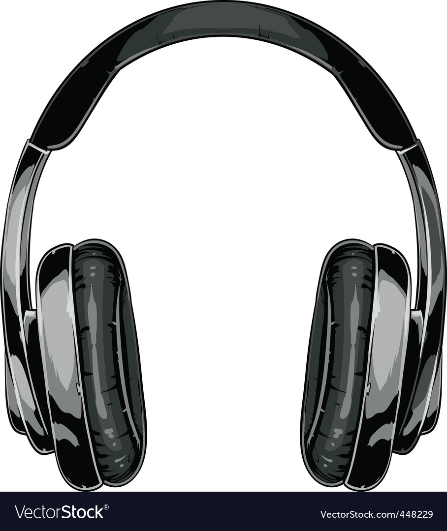 Headphones vector image