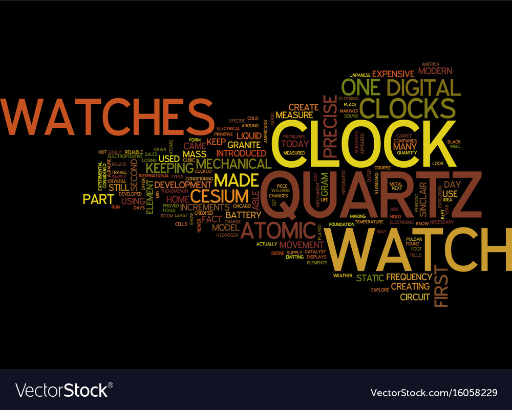The modern watches and precise clocks part of vector image