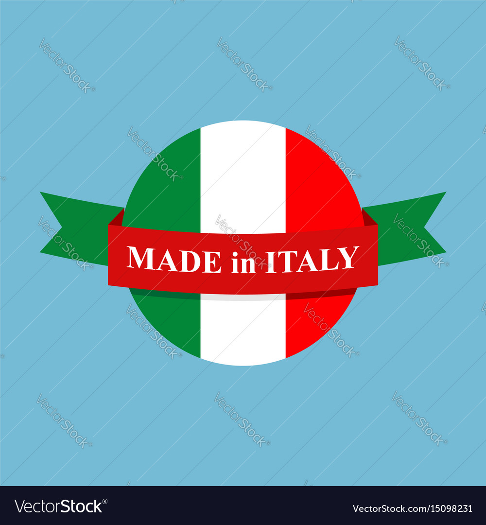 Made in italy logo italian production sign emblem vector image